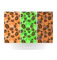 coffee beans on seamless pattern vector image vector image