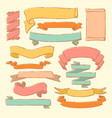 colorful set hand drawn banners vector image vector image