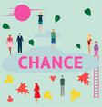 concept people are looking for a chance vector image