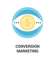 conversion marketing icon concept vector image vector image