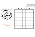 copy rose flower with the grid lines vector image