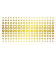 create gold halftone pattern vector image
