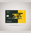 credit card bright puzzle design with shadow vector image vector image