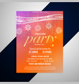 decorative christmas flyer design with colorful vector image vector image