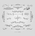 decorative floral borders set vector image vector image