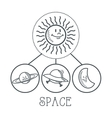 doodle icon design space icon draw concept vector image vector image