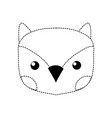 dotted shape cute owl head wild animal vector image vector image