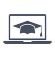 e-learning or online education vector image vector image