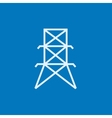 Electric tower line icon vector image vector image