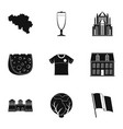 european cuisine icons set simple style vector image