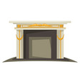 fireplace isolated interior design element gold vector image vector image
