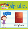 Flashcard letter S is for storybook vector image vector image