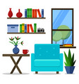 flat design of modern home office vector image vector image