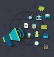 Flat icons concepts on business and finance theme vector image vector image