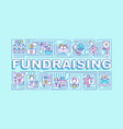 fundraising word concepts banner vector image vector image