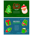 gingerbread cookies christmas holiday banners vector image vector image