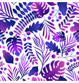 gorgeous seamless pattern with tropical leaves vector image vector image