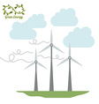 Green Energy design vector image vector image