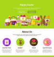 happy easter website design vector image