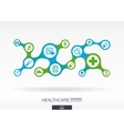 healthcare growth abstract background vector image vector image