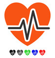 heart diagram flat icon vector image vector image