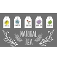 Herbal tea tags collection Organic herbs and wild vector image vector image