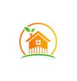home garden ecology logo vector image vector image