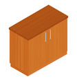 isometric kitchen cabinet vector image vector image
