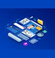 isometric personal data information app identity vector image