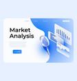 market analysis webpage template social media vector image vector image