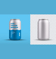 mockup a small tin can with an energy drink vector image vector image