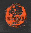 off-road club logo vector image vector image