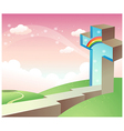 Path to Christianity vector image