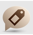 Price tag sign Brown gradient icon on bubble with vector image vector image