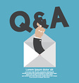 QA Typography In Hand vector image vector image