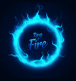 ring fairy blue underwater fire vector image