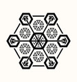 sacred geometry 0068 vector image vector image