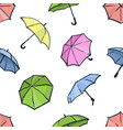 seamless pattern with umbrellas cute colorful vector image vector image