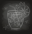 sketch cocktail and alcohol drinks vector image vector image