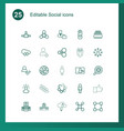 social icons vector image vector image