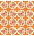 Spirographic orange seamless background vector image vector image