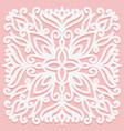 square solid ornament white graphic element on a vector image vector image