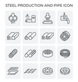 steel production icon vector image vector image