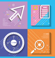 template set infographic with figures geometrics vector image