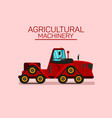 track tractor side view flat vector image vector image