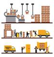 transport of goods vector image vector image