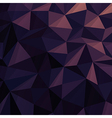 Triangular Low Poly Dark Blue Pattern vector image