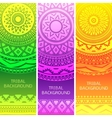 Tribal ethnic vintage banners vector image vector image
