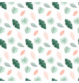 tropical palm leaves seamless pattern background vector image vector image