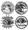 Vintage confectionery emblems vector image vector image